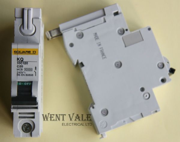 Square D Loadcentre - KQ10C120 - 20a Type C Single Pole MCB New
